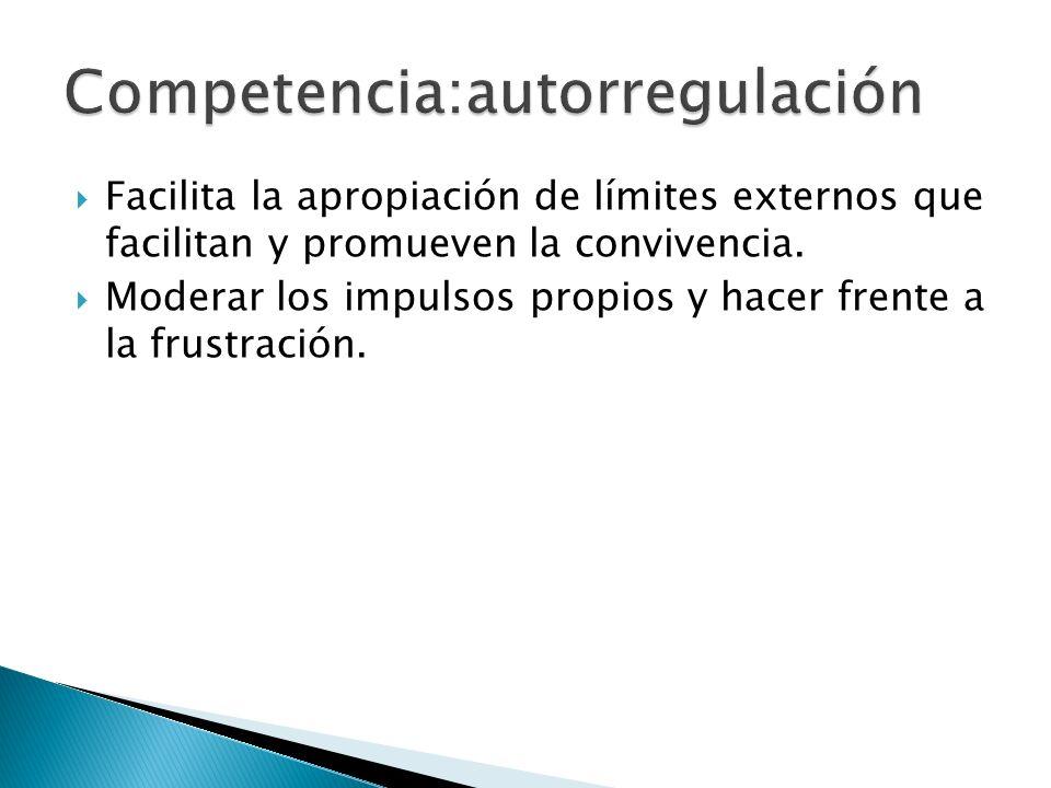Competencia:autorregulación