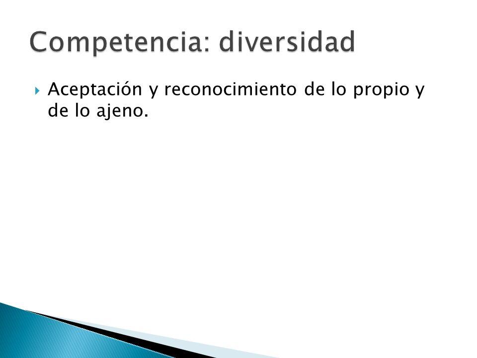Competencia: diversidad