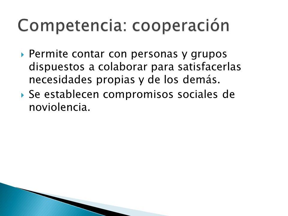 Competencia: cooperación