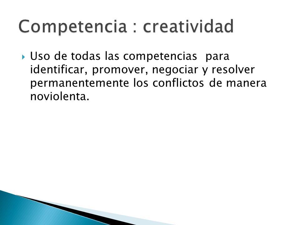 Competencia : creatividad