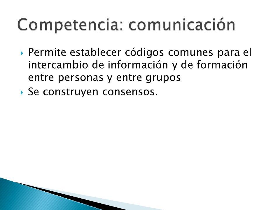 Competencia: comunicación