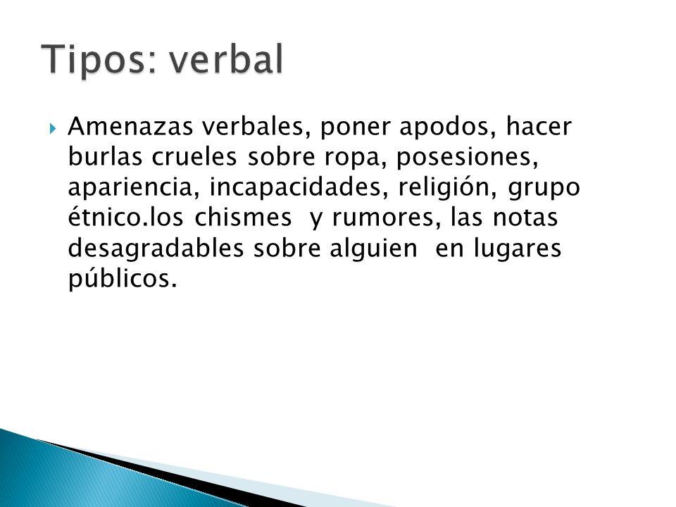 Tipos: verbal
