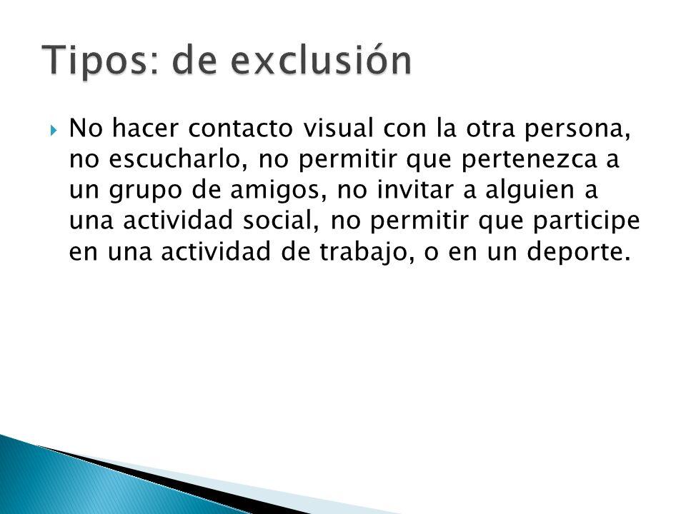 Tipos: de exclusión