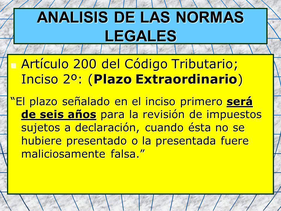 ANALISIS DE LAS NORMAS LEGALES