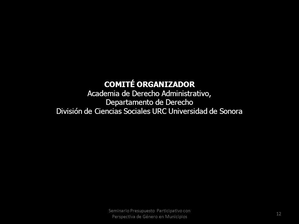 Academia de Derecho Administrativo, Departamento de Derecho
