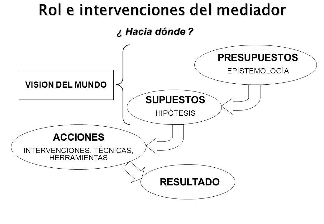 Rol e intervenciones del mediador