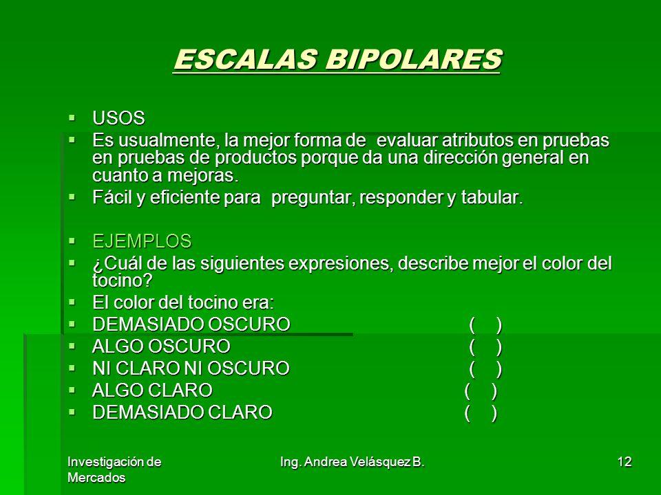 ESCALAS BIPOLARES USOS