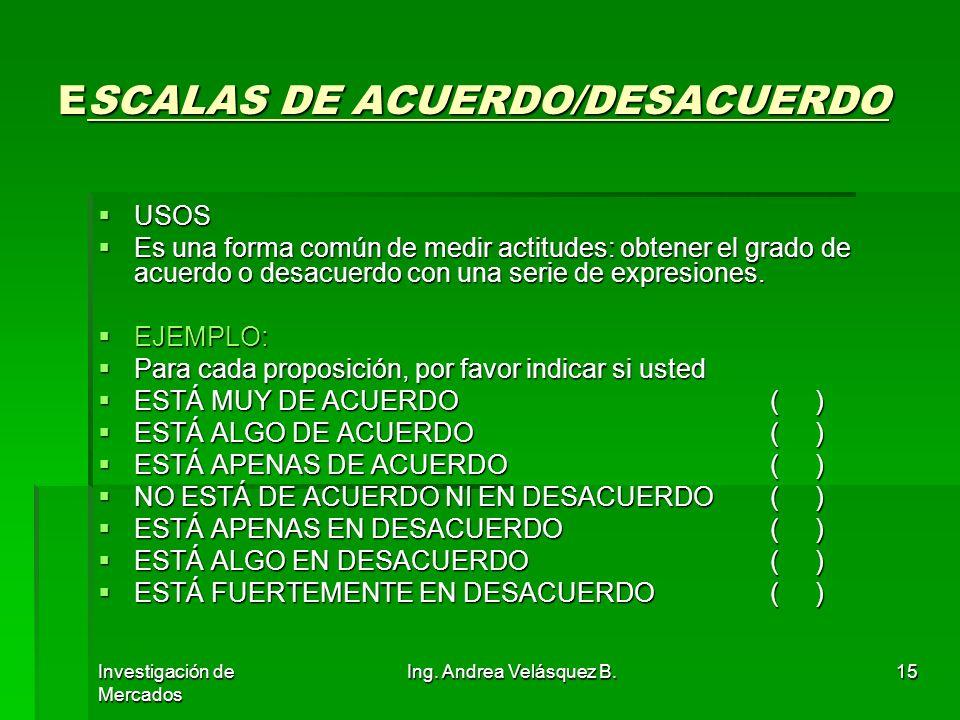 ESCALAS DE ACUERDO/DESACUERDO