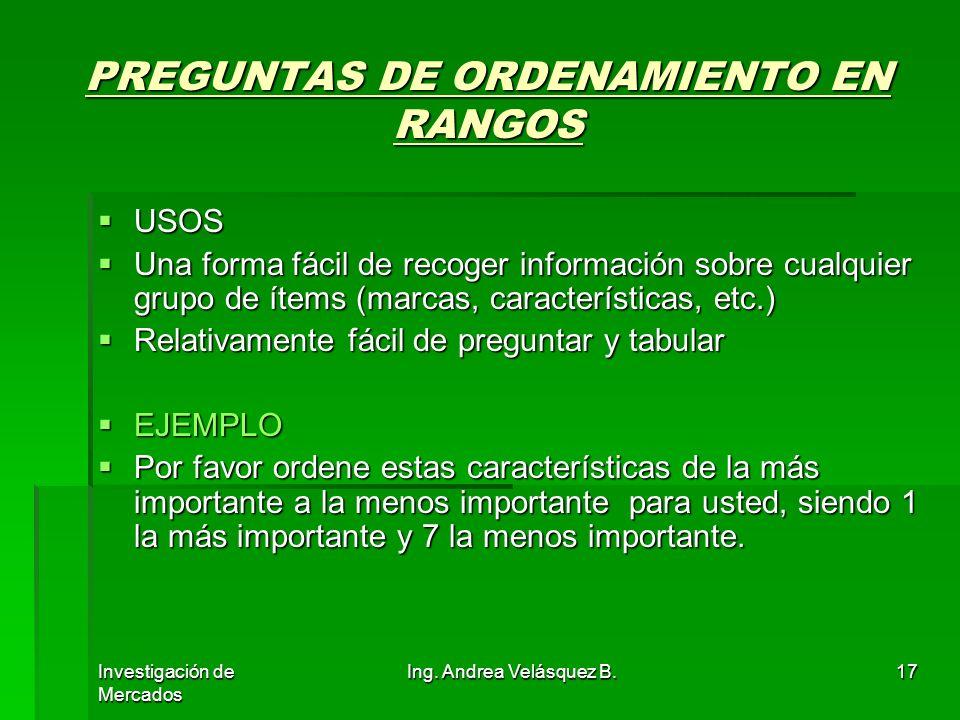 PREGUNTAS DE ORDENAMIENTO EN RANGOS