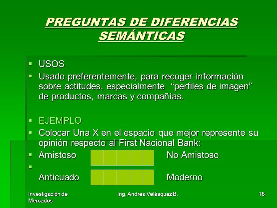 PREGUNTAS DE DIFERENCIAS SEMÁNTICAS