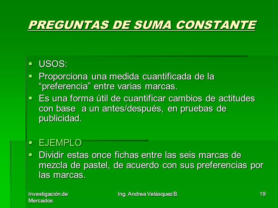 PREGUNTAS DE SUMA CONSTANTE
