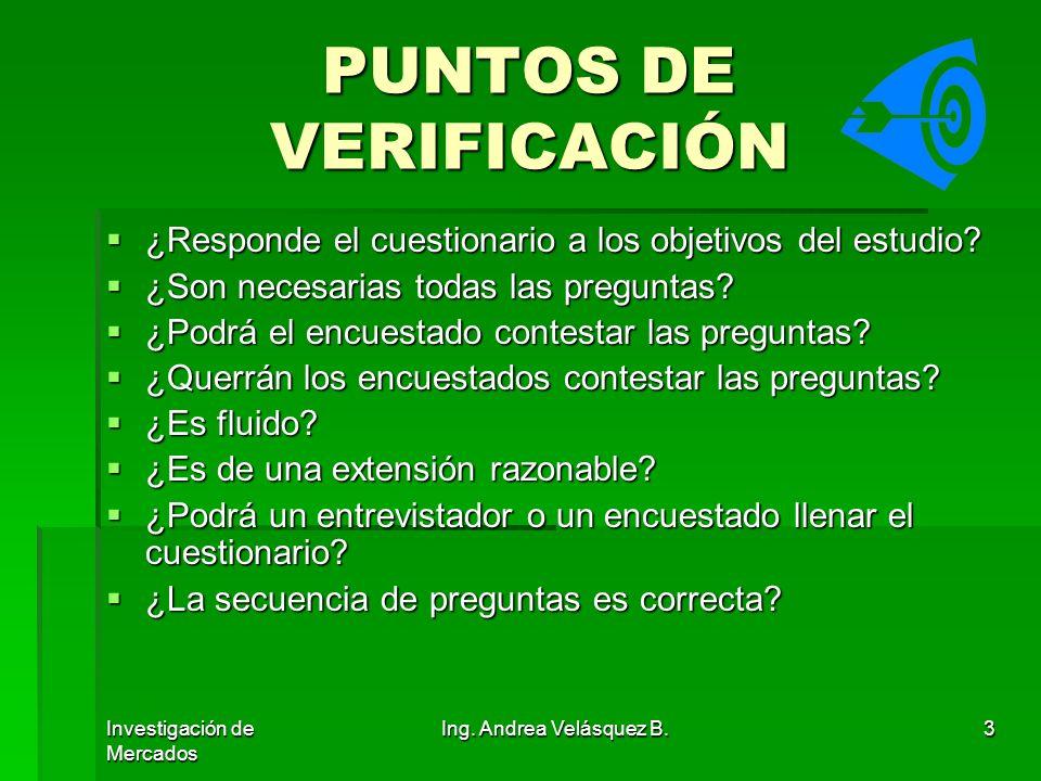 PUNTOS DE VERIFICACIÓN