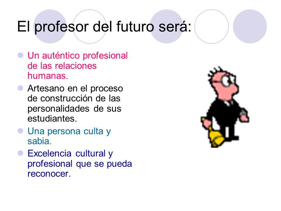 El profesor del futuro será: