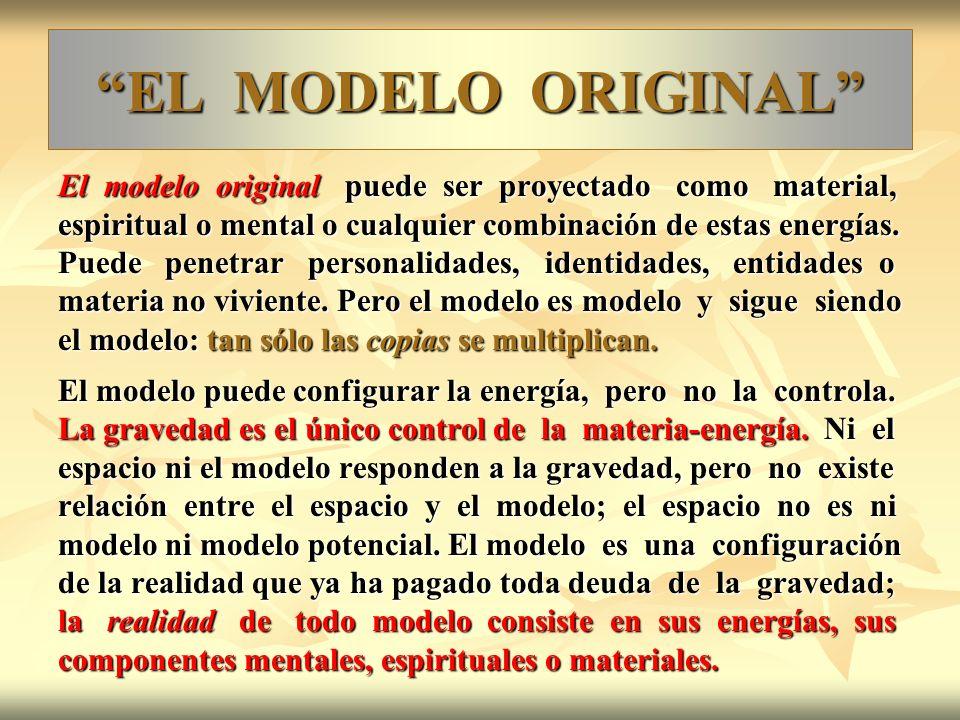 EL MODELO ORIGINAL El modelo original puede ser proyectado como material,