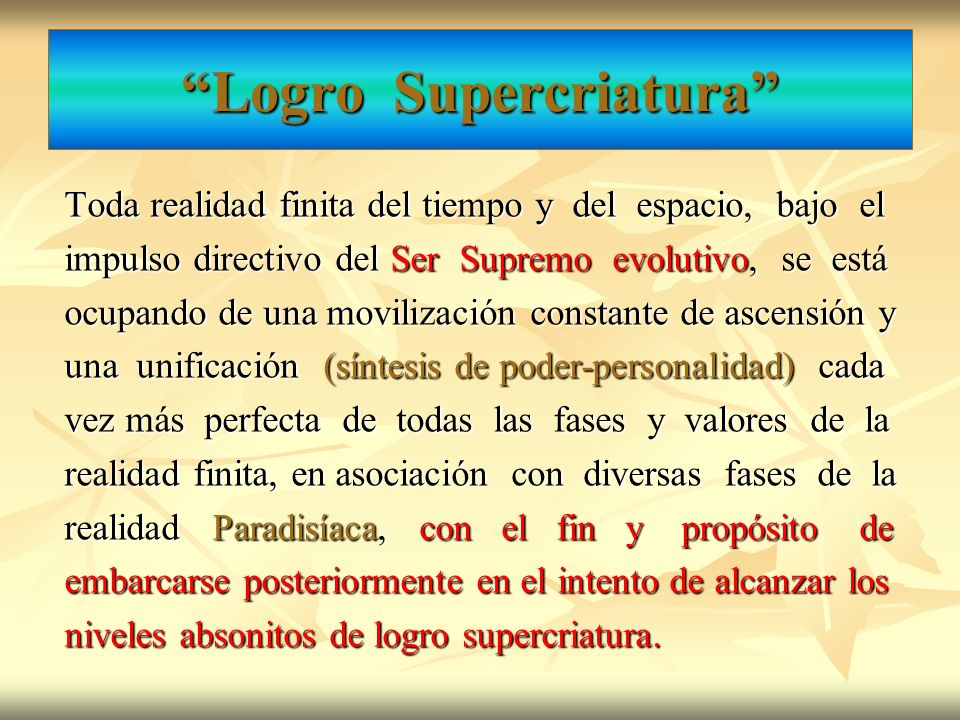 Logro Supercriatura