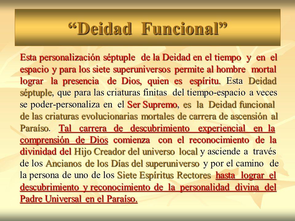 Deidad Funcional Esta personalización séptuple de la Deidad en el tiempo y en el.