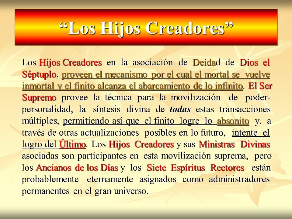 Los Hijos Creadores Los Hijos Creadores en la asociación de Deidad de Dios el.