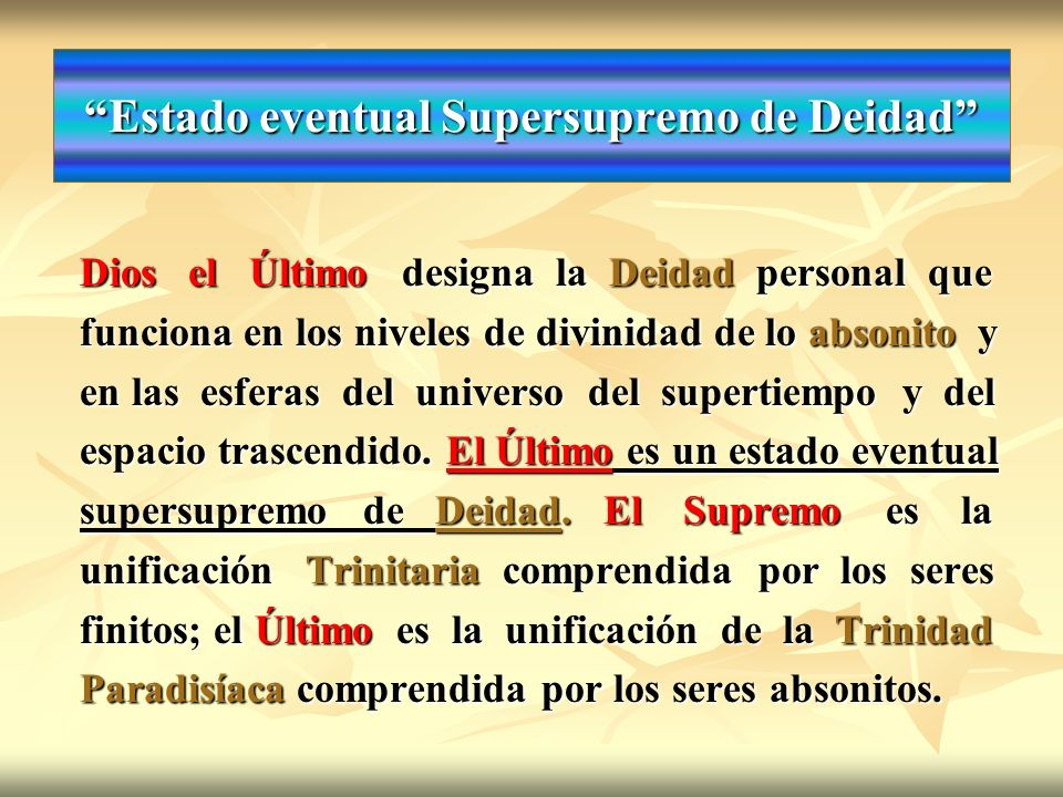 Estado eventual Supersupremo de Deidad