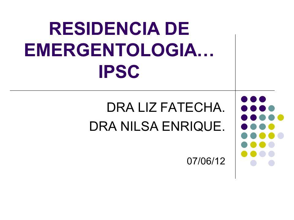 RESIDENCIA DE EMERGENTOLOGIA… IPSC