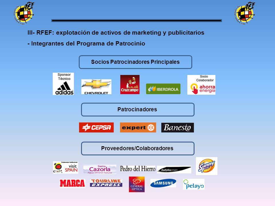 Socios Patrocinadores Principales Proveedores/Colaboradores