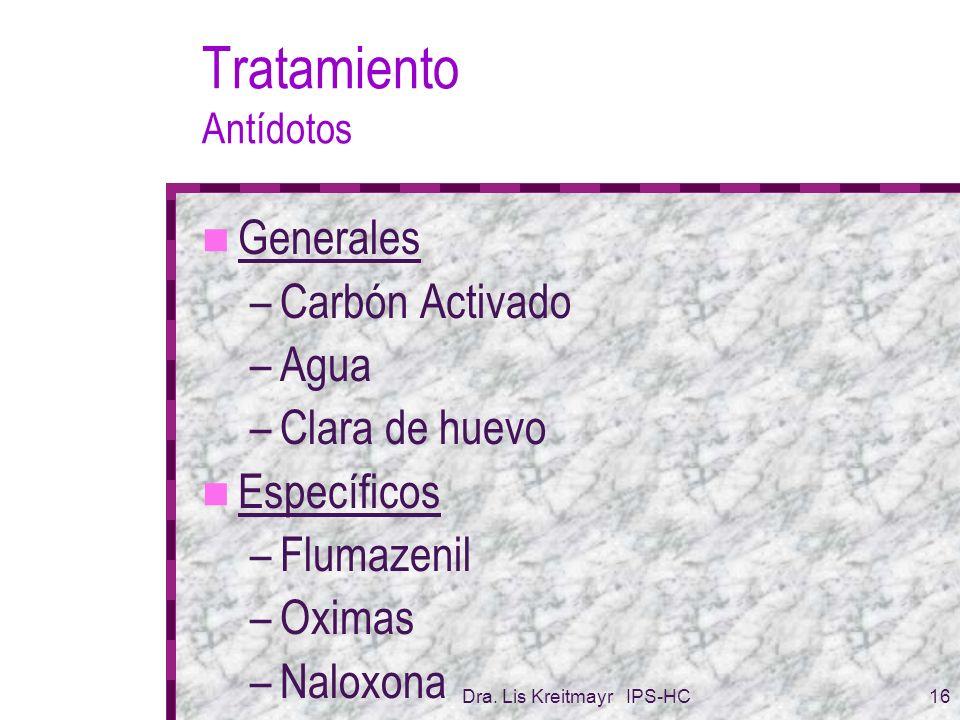Tratamiento Antídotos