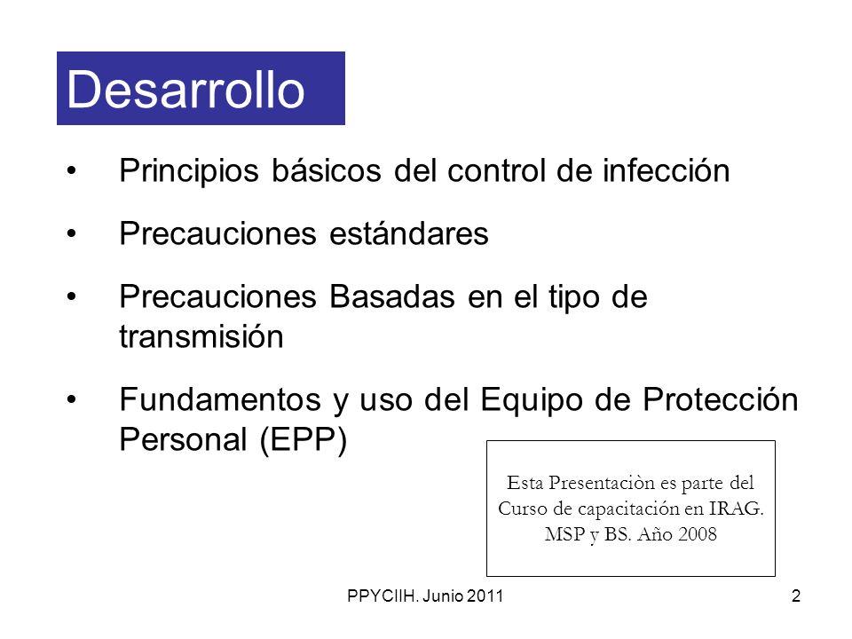 Desarrollo Principios básicos del control de infección