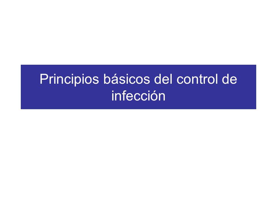 Principios básicos del control de infección