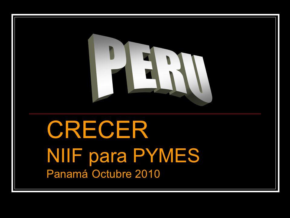 CRECER NIIF para PYMES Panamá Octubre 2010