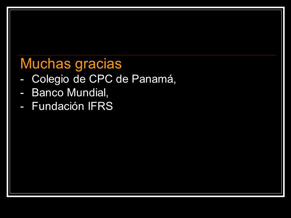Muchas gracias - Colegio de CPC de Panamá, - Banco Mundial,