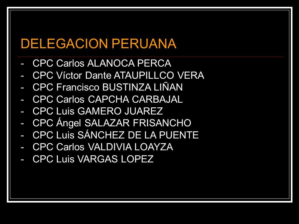 DELEGACION PERUANA - CPC Carlos ALANOCA PERCA
