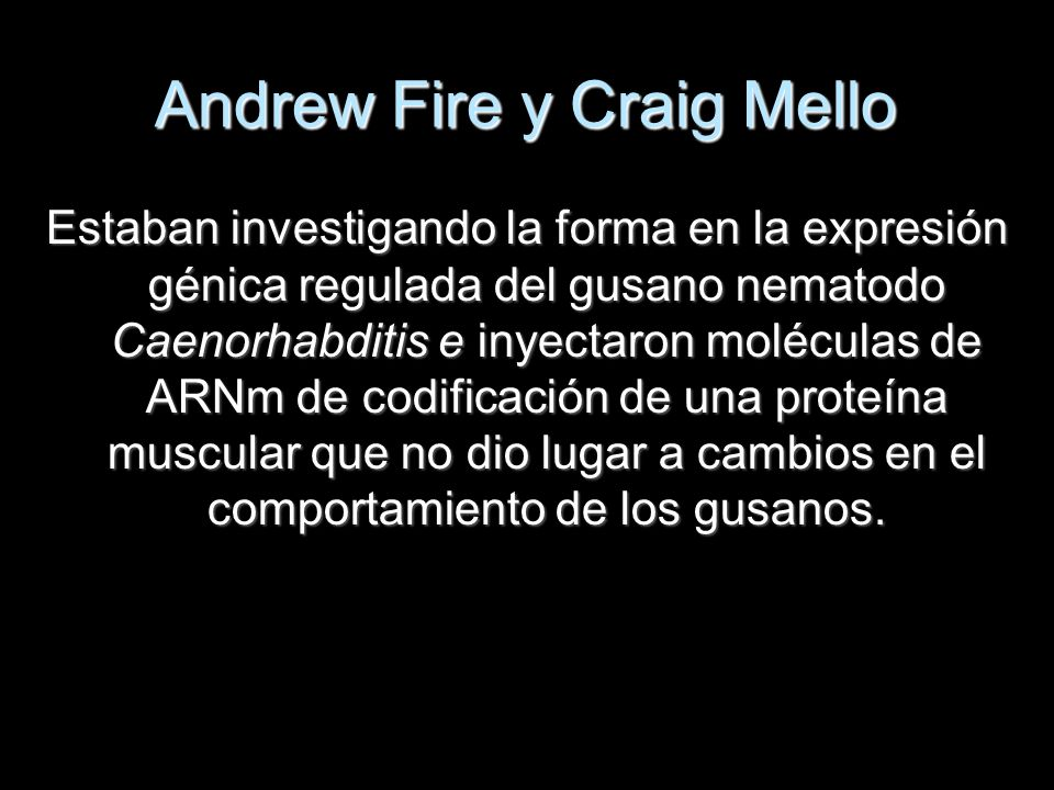 Andrew Fire y Craig Mello