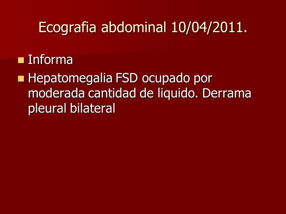 Ecografia abdominal 10/04/2011.