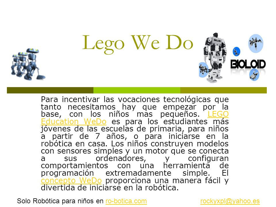 Lego We Do