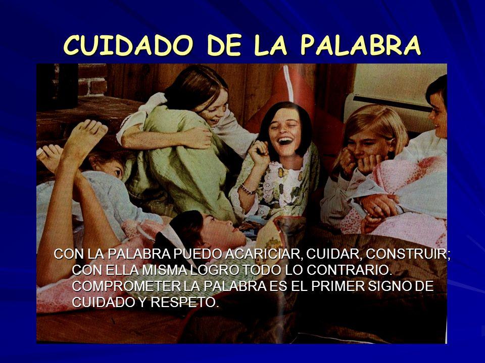 CUIDADO DE LA PALABRA