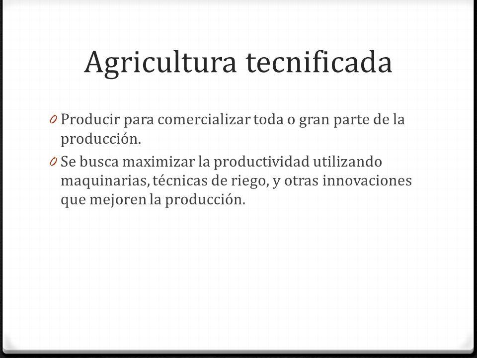 Agricultura tecnificada
