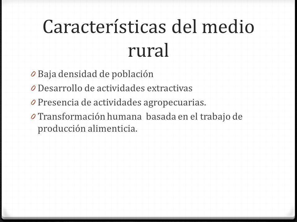 Características del medio rural