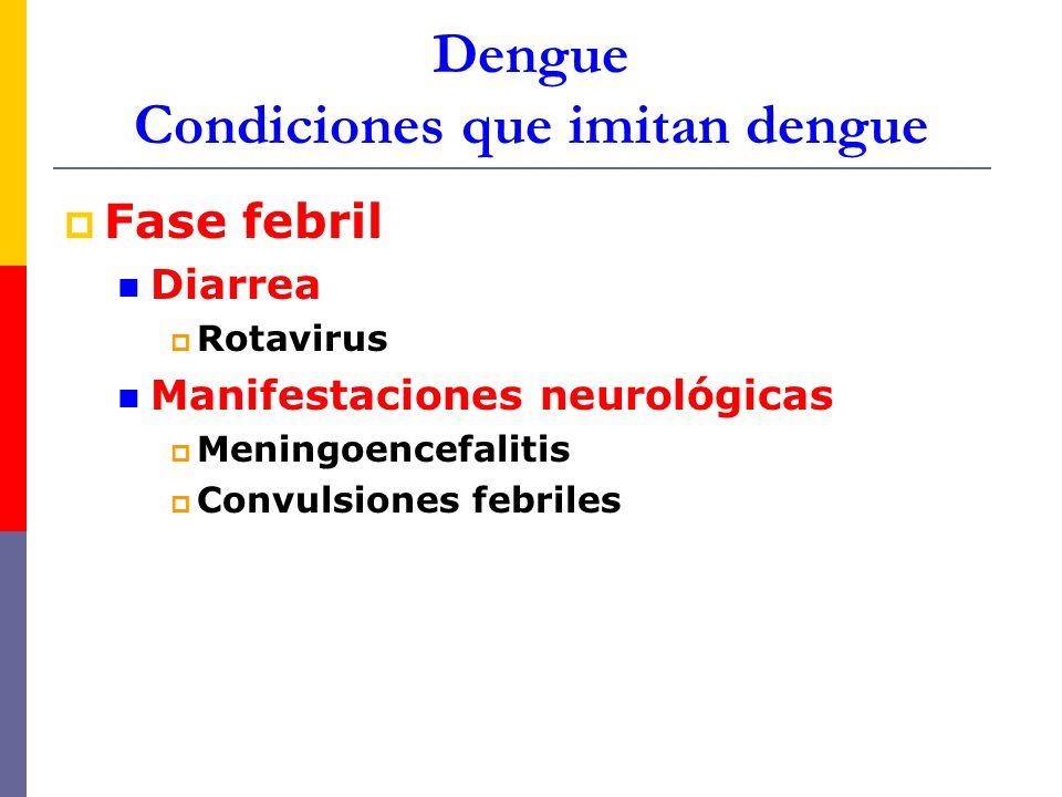 Dengue Condiciones que imitan dengue