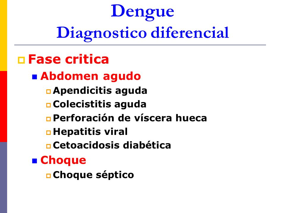 Dengue Diagnostico diferencial