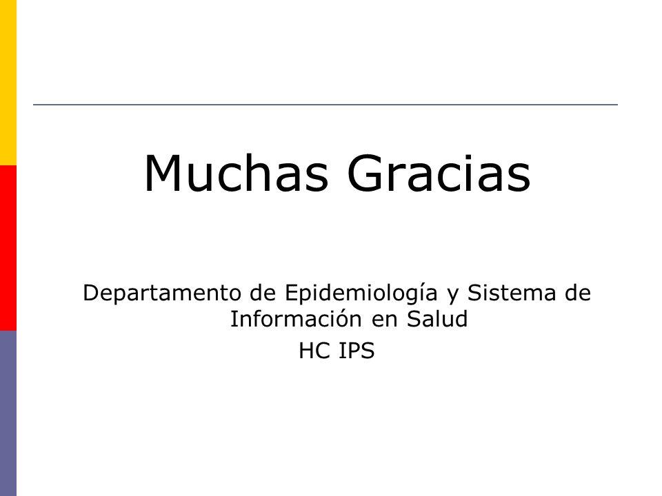 Departamento de Epidemiología y Sistema de Información en Salud