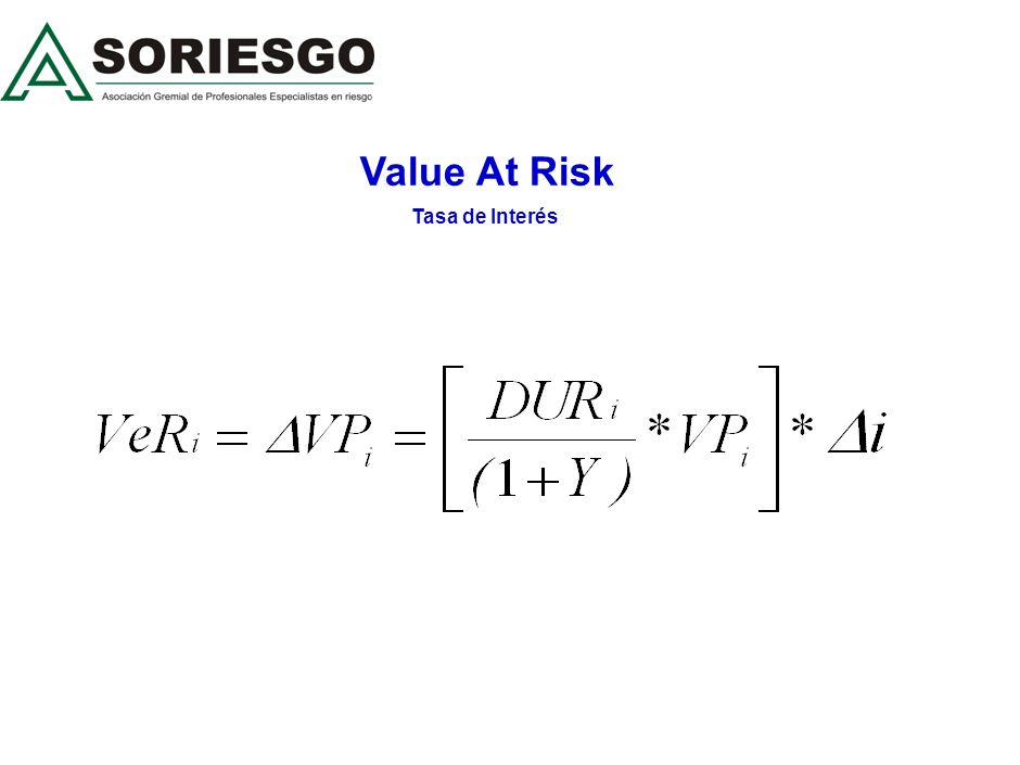 Value At Risk Tasa de Interés