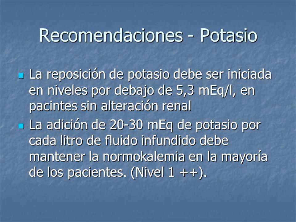 Recomendaciones - Potasio