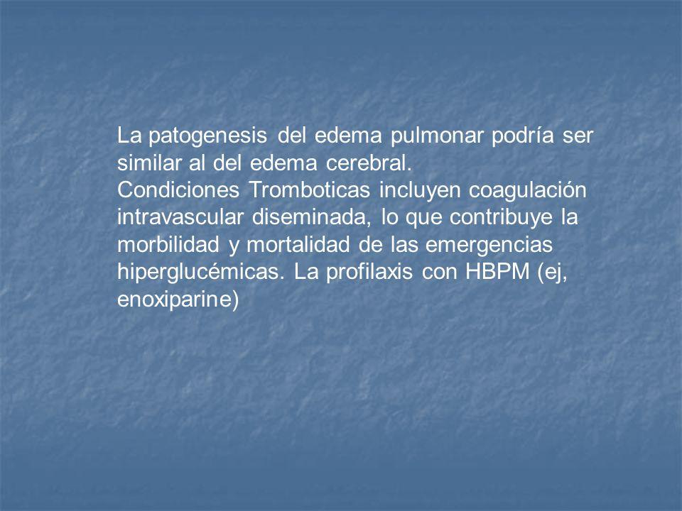 La patogenesis del edema pulmonar podría ser similar al del edema cerebral.