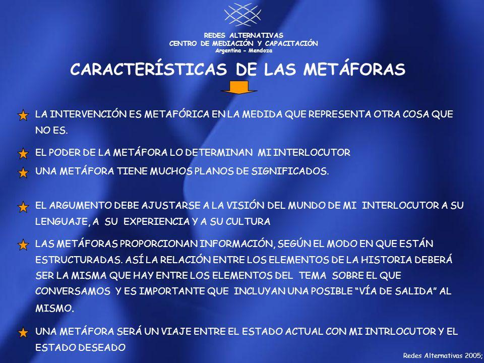 CARACTERÍSTICAS DE LAS METÁFORAS