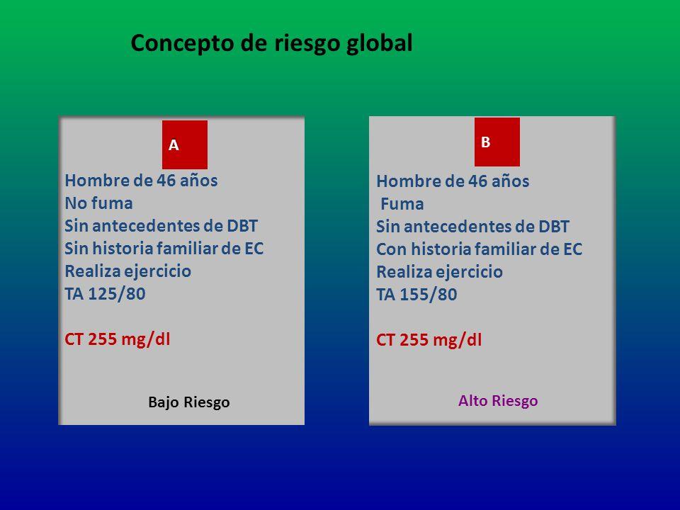 Concepto de riesgo global