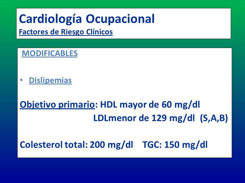 Cardiología Ocupacional Factores de Riesgo Clínicos