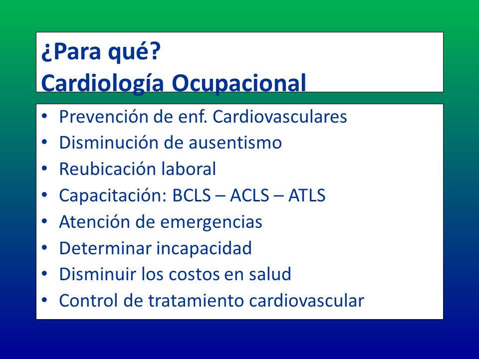 ¿Para qué Cardiología Ocupacional