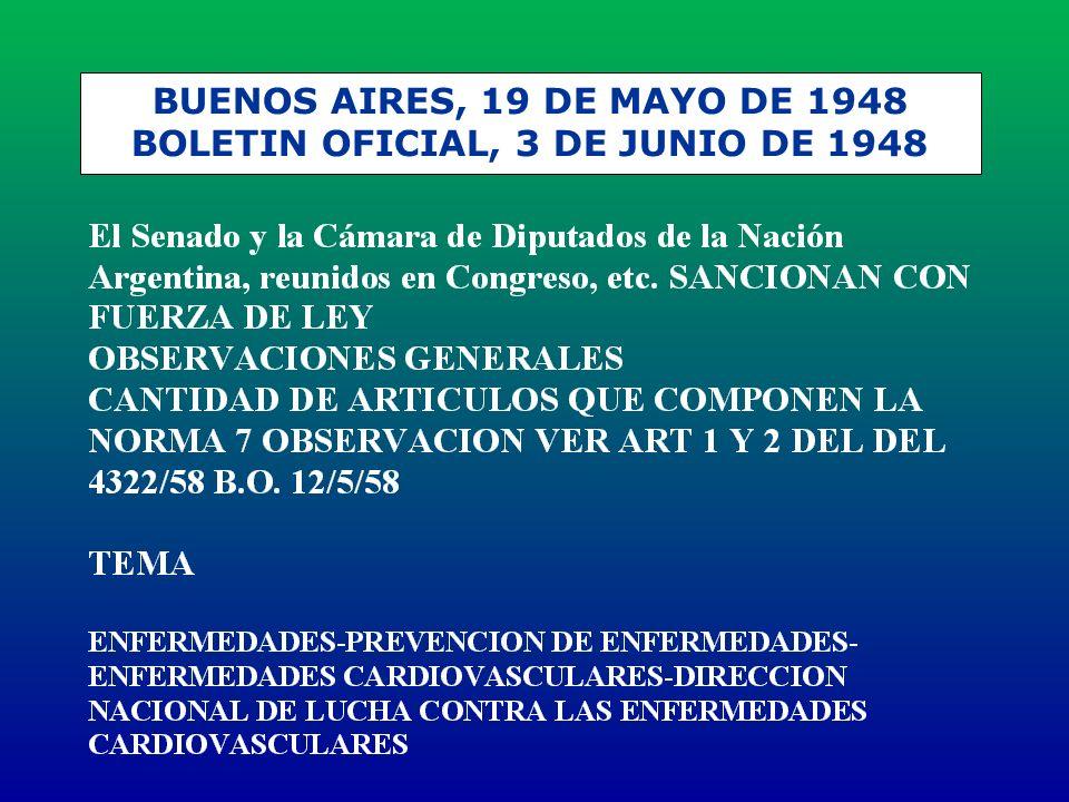BUENOS AIRES, 19 DE MAYO DE 1948 BOLETIN OFICIAL, 3 DE JUNIO DE 1948
