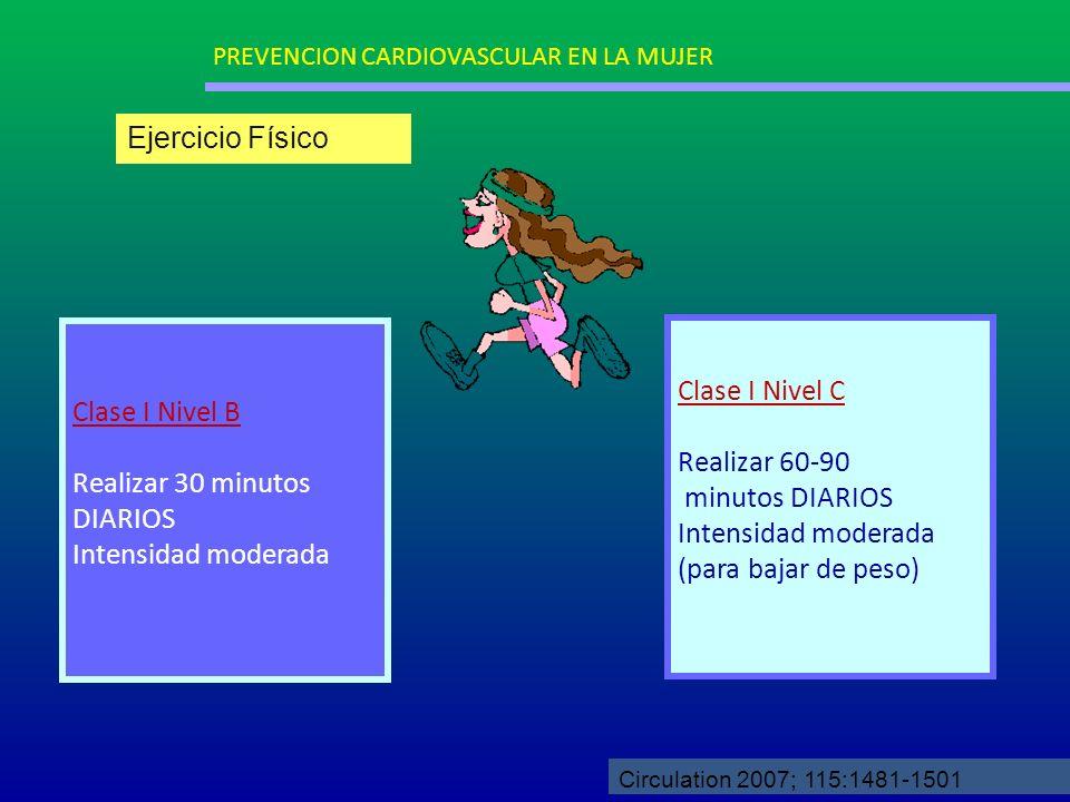 Ejercicio Físico Clase I Nivel C Clase I Nivel B Realizar 60-90