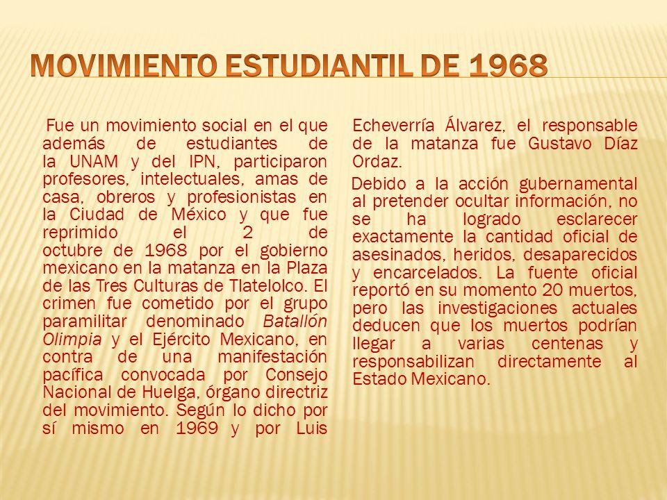 el movimiento estudiantil de 1968 essay Los acontecimientos del 2 de octubre de 1968, alrededor de 2 mil actores, estudiantes y ex dirigentes políticos, recrearon en ese tiempo en la plaza de las tres culturas de tlatelolco la masacre perpetrada contra el movimiento estudiantil que marcó la historia moderna del país.