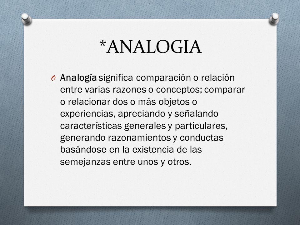 *ANALOGIA